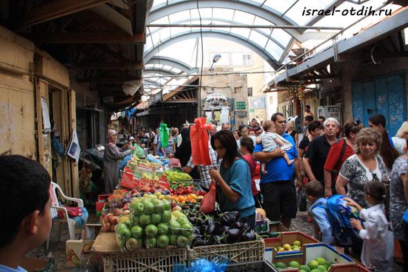 Восточный базар Акко фото